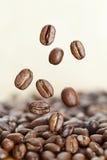 Les grains de café se ferment vers le haut Photos stock