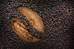Les grains de café, texture, ont rôti des grains de café, grand haricot Images libres de droits