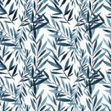 Les grandes branches de bleu et d'indigo remettent le dessin descripteur photos stock