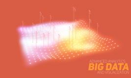 Les grandes données tracent la visualisation colorée Infographic futuriste Conception esthétique de l'information Complexité de d Photos stock