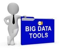 Les grandes données usinent le rendu de la boîte à outils 3d de Digital illustration de vecteur