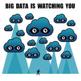 Les grandes données vous observent illustration libre de droits