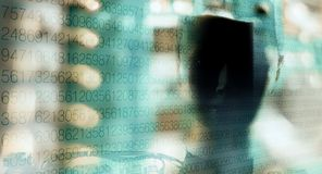 Les grandes informations sur les données protégées Image stock