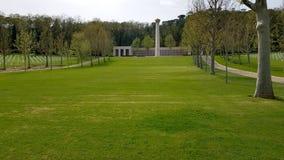 Les grandes pelouses vertes soign?es caract?risent Florence American Cemetery et le m?morial, Florence, Italie photographie stock libre de droits