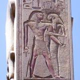 Les grandes ruines de Karnak Photographie stock