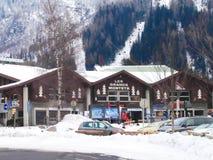 Les Grands Montets narty stacja, Chamonix Zdjęcia Stock