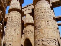 Les grands piliers de Karnak Photo libre de droits