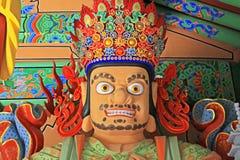 Les grands Rois merveilleux Statue du bouddhiste quatre Photos stock