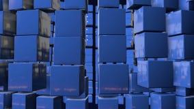Les graphiques 3d de mouvement ont fait une boucle l'animation comme fond dans 4k avec les cubes simples et la profondeur du cham illustration stock