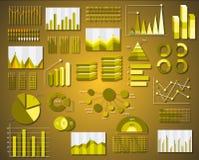Les graphiques d'entreprise d'infos dirigent des éléments dans des affaires plates Photo libre de droits