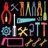 les graphismes colorés usinent le vecteur Image stock