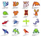 Les graphismes d'animaux ont placé 4 illustration stock