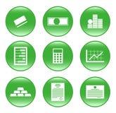 les graphismes de finances de boutons dirigent le Web Images stock