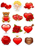 Les graphismes de Valentine Image stock