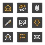 Les graphismes de Web d'email, gris boutonne la série Photo libre de droits