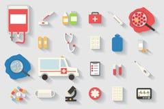Les graphismes médicaux ont placé Éléments d'Infographic de soins de santé Photos libres de droits
