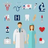 Les graphismes médicaux ont placé Vecteur Images libres de droits