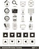 Les graphismes monochromes ont placé 1 Photographie stock