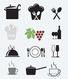 Les graphismes ont placé pour le restaurant, le café et le bar Photo libre de droits
