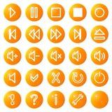 Les graphismes visuels sonores de medias ont placé no.1 - orange Image stock