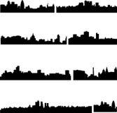 Les gratte-ciel en Anglais Photographie stock libre de droits