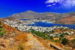 Îles grecques scéniques - Patmos Image stock