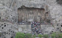 Les grottes de Longmen (à Luoyang) Images libres de droits