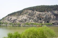 Les grottes de Longmen Images libres de droits