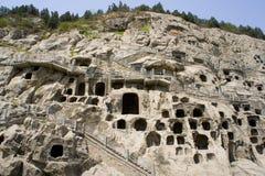 Les grottes de Longmen (partie) Images stock