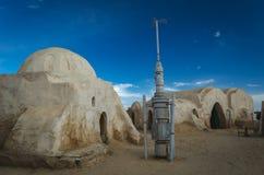 Les Guerres des Étoiles ont installé le décor pour le film Désert de Sahara, Tunisie photographie stock libre de droits