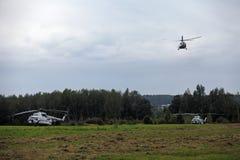 Les hélicoptères le président de la Russie Images libres de droits