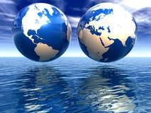Les hémisphères de la terre Photographie stock libre de droits
