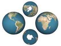 Les hémisphères de la terre illustration de vecteur