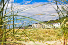Les hôtels sur Barmouth échouent au Pays de Galles, Royaume-Uni Photos stock