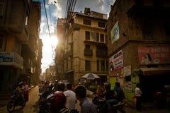 Les habitants de Katmandou, Népal image libre de droits