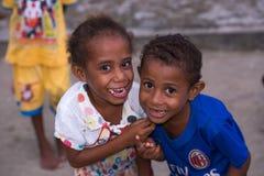 Les habitants indigènes de la réservation Raja Ampat Photos libres de droits