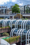 Les Halles garden in Paris Royalty Free Stock Photos