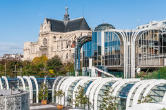 Les Halles and Saint Eustache Stock Photo