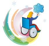 Les handicapés badinent Image stock