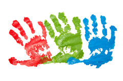Les handprints de l'enfant Images stock
