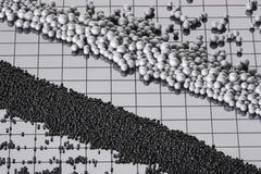 Haricots expulsés de polystyrène Photographie stock