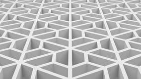 Les hexagones blancs forment la texture de modèle avec des trous dans la technologie Illustration Stock