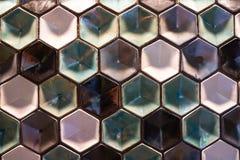 Les hexagones de Coulered modèlent photos stock