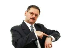 Les hommes d'affaires attend. image stock