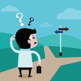 Les hommes d'affaires choisissent l'avenir un chemin Image stock