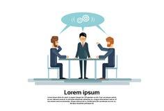 Les hommes d'affaires groupent le bureau créatif fonctionnant de Team Business People Sitting Office Photos stock