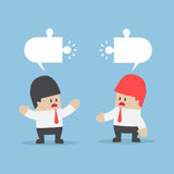 Les hommes d'affaires ont l'opinion différente Image libre de droits