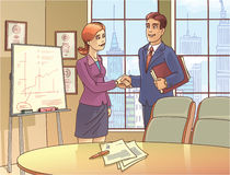 Les hommes d'affaires serrent la main illustration stock