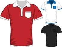 Les hommes de vecteur court-circuitent la conception de polo de T-shirt de douille Photos libres de droits