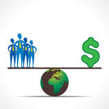 Les hommes et l'argent comparent le desgin de concept Image stock